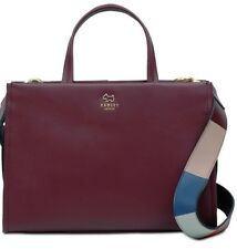 New Radley London Hope Place Stripe strap Multiway Medium Satchel leather bag