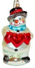Christopher Radko Love You This Much Snowman Hearts Christmas Ornament 1999