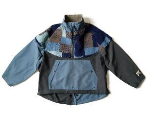 Kapital Men's 60/40 Cloth TUNAGI Fleece Hutte Anorak Navy From Japan New