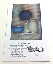 Americana Tray by Bobbie Campbell CDA Tole Painting Pattern Packet PP 383