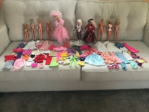Vintage Barbie Dolls and Clothes Lot