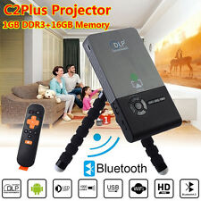 Mini DLP LED WIFI TV Projector C2 Plus Android 4.4 Home Theater HD 1080P 16GB