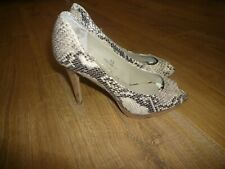 "MARKS & SPENCER AUTOGRAPH 4"" HIGH HEEL LEATHER SHOES ANIMAL PRINT UK 5.5. VGC"