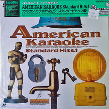 AMERICAN KARAOKE - STANDARD HITS. 1 - JAPANESE LASER DISC WITH OBI - 1989