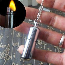 Mini Gear Fire Stash Lighter Camping Hiking Pocket Keyring Outdoor Survival Tool