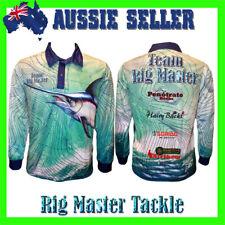 Marlin Long Sleeve Quick Dry Fishing Polo Tournament Shirt Adults S-9XL Aussie