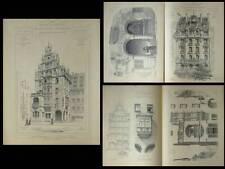 NUREMBERG, HOTEL DEUTSCHER KAISER - PLANCHES ARCHITECTURE 1890- KONRADIN WALTER