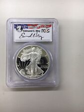2003-W PCGS PR69DCAM Silver Eagle Dollar (Edmund C. Moy Auto Label)