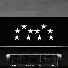 10 Klebesterne 5cm weiß Sterne Auto Fenster Aufkleber Tattoo Wandtattoo decals