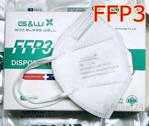 FFP3 Maske Zertifizierte EINZELN PACK Schutzwirkung höher als FFP2