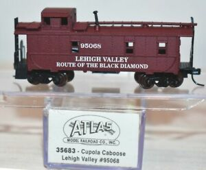 Lehigh Valley 95068 Cupola Caboose Atlas 35683 N Scale S17.29