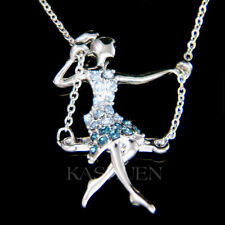 Girl on Swing made with Swarovski Crystal Gymnastic Gymnast Acrobat Necklace New