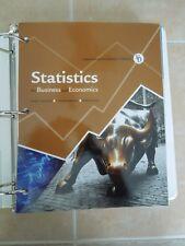 Statistics for Business and Economics George Benson James McClave BINDER EDITION