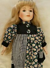 "16"" Porcelain Doll with Stand out of box"