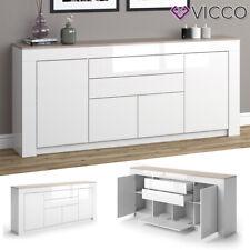 VICCO Sideboard MILAN Kommode Schrank Sonoma Eiche Weiß Fernsehschrank TV