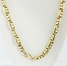 "68.40 gm 14K Yellow Gold Men's Italian Hollow Bullet Chain Necklace 22"" 10 mm"