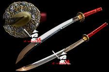 battle ready spring steel blade japanese naginata katana sword razor sharp blade