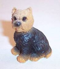 Very Small Yorkshire Terrier Yorkie Black & Tan Dog Figurine