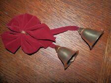 Brass Christmas Bell Door Hanger w/ Ribbon or Christmas Tree Ornament