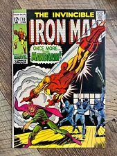 INVINCIBLE IRON MAN #10 - VF- 7.5 - 1969 / MANDARIN / NICK FURY