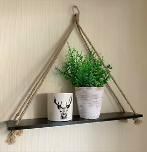 Rustic Hanging Shelf, Wooden Wall Display, Rustic Farmhouse Decor