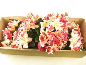 Wholesale Job Lot 4x Artificial Flowers Rose Lily Aquilegia Orchid Arrangements
