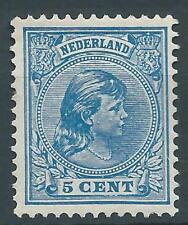 1891TG Nederland Prinses Wilhelmina  NR.35 postfris mooi zegel zie foto's..