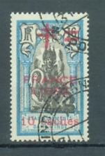 French Indian Settlements 1942 10Ca on 16Ca France Libre sg.198  used