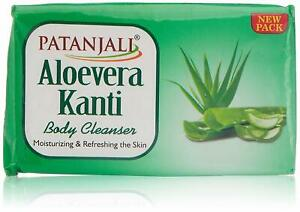 Pack of 5 Patanjali Kanti Aloe Vera Body Cleanser Soap 75g with Free Shipping