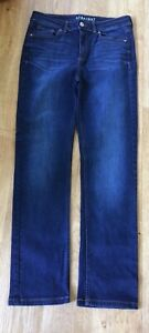 MARKS & SPENCER Blue Denim Straight Leg Stretch Jeans - Size 12