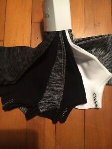 Calvin Klein 6 pk no show socks  Black & Gray