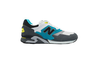 [ML878AAC] New Balance 878 Mens Running Sneakers Grey/White-Teal