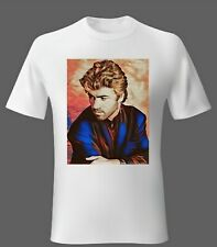 Mens t-shirt Music George Michael from Wham My Art Unisex Woman S M L XL 2XL UK