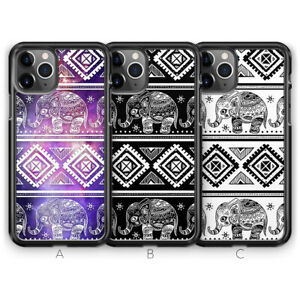Elephant Henna Aztec Animal Phone Case for iPhone 13 Pro Max 12 11 XR X XS 8 7