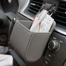 1Piece Car Gray Accessories Air PU Box Organizer Phone Pocket Vehicle Bag Holder