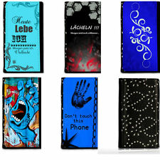 Universal Strass Auswahl AB Book Style Handy Tasche Case Cover Hülle Etui