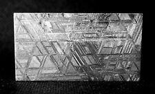 32.91 gr. Meteorite iron Muonionalusta full etched part slice + Stand Mahogany