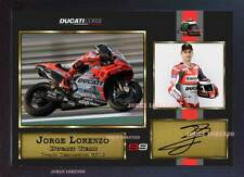 NUOVA foto stampa Incorniciato Firmato Autografo Jorge Lorenzo