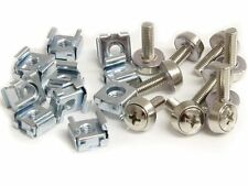 10X Durable M6 Rack Mount Cage Nuts & Screws w/Washers Square Clips Server