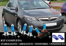 OPEL ASTRA J 2009-2014 SET COMPLETO LAMPADE BLU XENON + POSIZIONE BLU T20