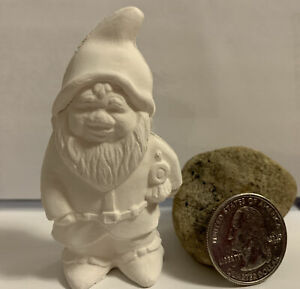 """FREE SHIPPING  Mini Gnome ceramic bisque, 3"""" ready to paint"""