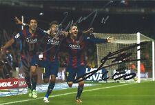 Lionel Messi / Neymar Jr. / Luis Suarez Msn Autograph 4x6 Photo Signed w/ Coa