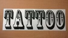 "12"" tattoo studio parlour shop window door sign vinyl graphic wall art sticker"