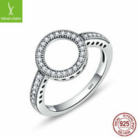 Forever Clear CZ Circle Round Finger Ring for Women 925 Sterling Fashion Jewelry