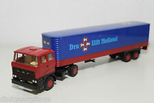 LION CAR LION TOYS 59 DAF 2800 TRUCK WITH TRAILER DRU ULFT HOLLAND EXCELLENT
