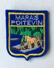 Old Vintage French Souvenir Patch MARAIS POITEVIN France Embroidered