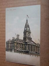 Postcard Bolton Town Hall Decorated for King Edward VIII's Coronation   .b2