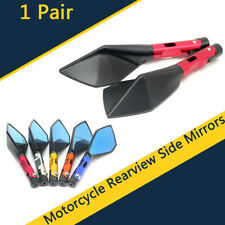 2 Pcs 8mm/10mm CNC Aluminum Rear View Side Mirror Handle Black For Motorcycle