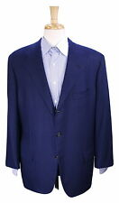 * KITON * Handmade Navy Blue Herringbone 100% VICUNA 2-Btn Sportcoat Blazer 42R