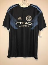 New York City FC NYCFC Jersey adidas Blue Gray 2018 Secondary Authentic MLS XL